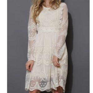 Chicwish Mi Amore Lace Dress