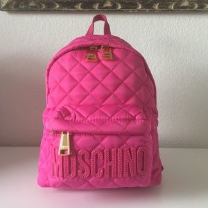 Moschino Handbags - SS16 Moschino Couture X Jeremy Scott Backpack Pink