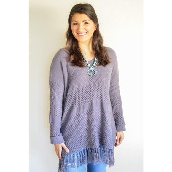 Sweaters - Smoke Knit Fringe Sweater