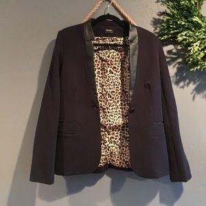 Bardot Jackets & Blazers - Bardot Blazer with leopard lining