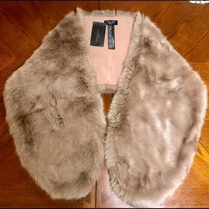 ZARA FAUX FUR STOLE/SCARF New w/ tags