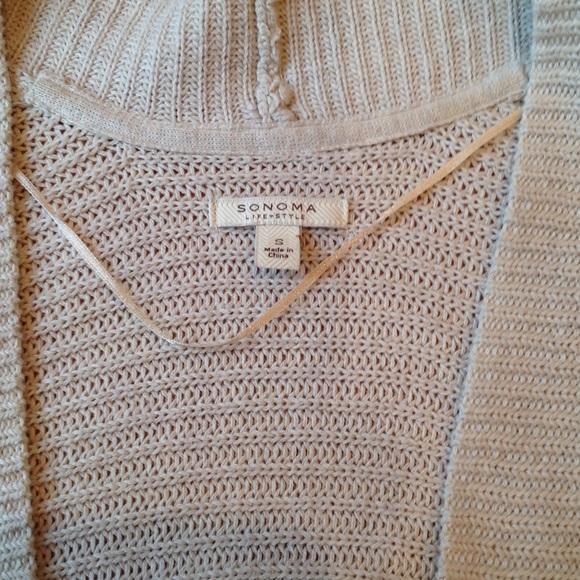 Women'S 3 4 Sleeve Tan Cardigan 95