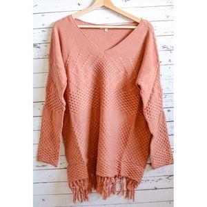 Sweater sale!Cinnamon Fringe Sweater Tunic