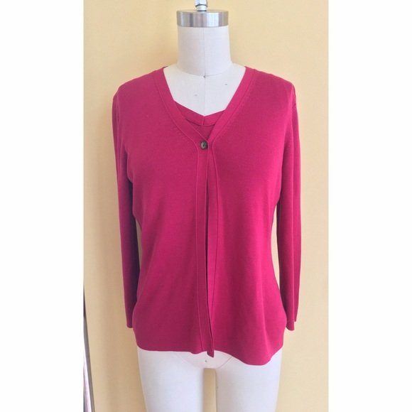 Ann Taylor Sweaters Silk Cardigan And Matching Shell Set Poshmark