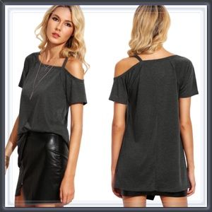 Tops - NWT Asymmetrical Cold Shoulder Tee