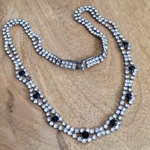 "Jewelry - ""Diamond and Onyx"" necklace"