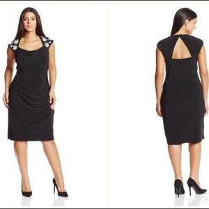 MSK Dresses & Skirts - MSK Women's Plus Caviar Beaded Shoulder Sz 24W