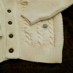 BLUE WILLI'S natural garments Irish aran cardigan