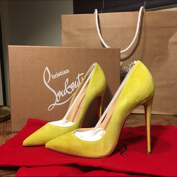 66423ed924c6 NWB Christian Louboutin So Kate in Yellow Suede