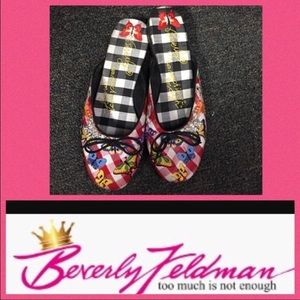 Beverly Feldman Shoes - 🍾NWOT Beverly Feldman  Silk Slide Mules. Sz 8