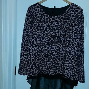 Allie & Rob Tops - Berry Leopard Print Tunic Style Shirt