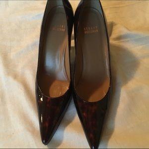 Stuart Weitzman animal print heels