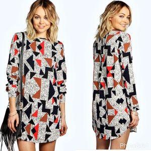 Trendy Geo Print Dress
