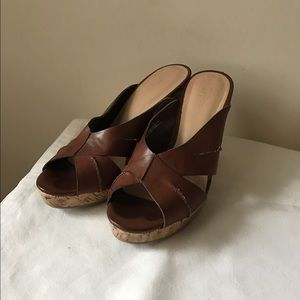 Mossimo brown wedge sandals