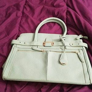 Mint green tote from Just Fab