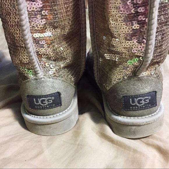sparkly silver uggs