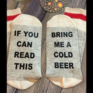 Other - 💥MUST BUNDLE💥Unisex bring me a beer socks.
