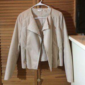 Jackets & Blazers - Beautiful Beige Sherpa Jacket