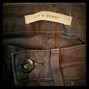 """Rich & Skinny Denim - Rich and Skinny """"Brown Leather"""" style. Slim fit 24"""
