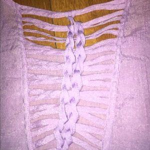 Lavender braided top
