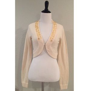 The Limited Crystal sweater shrug  (ivory)