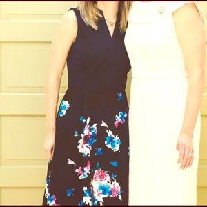 Ellen Tracy Dresses & Skirts - Navy Ellen Tracy Floral Print Fit&Flare