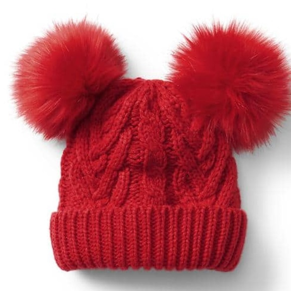 Baby Gap Red Pom Pom Hat - NWT 8df8880b868