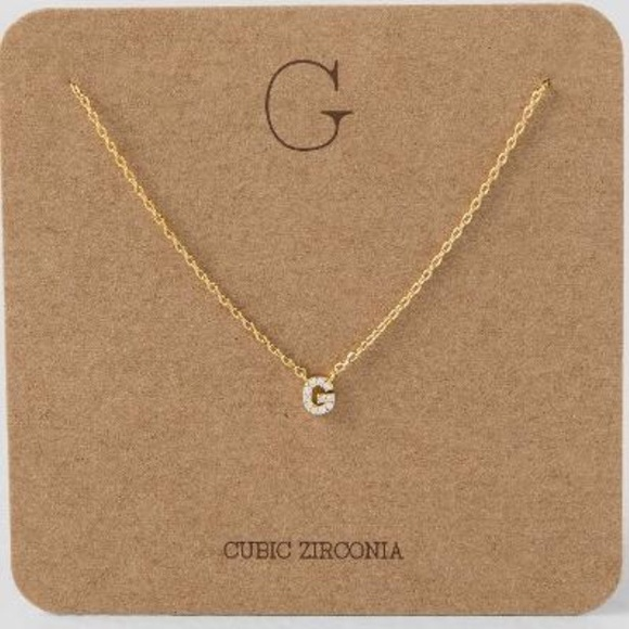 Francescas collections jewelry cubic zirconia initial g necklace cubic zirconia initial g necklace aloadofball Choice Image