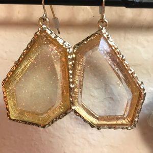 Gold tone earrings