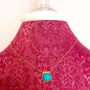 Spartina 449 Jewelry - Spartina 449 Turquoise & Gold Tiny Necklace
