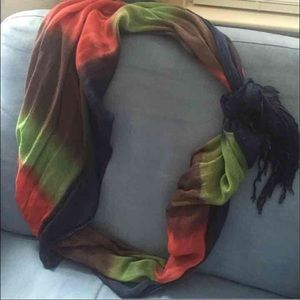 Nicole Miller Colorful Scarf Wrap Red