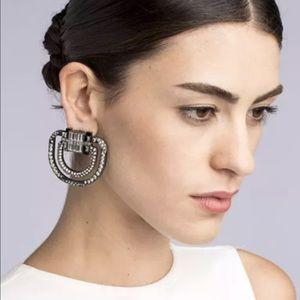 Jewelry - New✨ Oversized Rhinestone Crystal Earrings 😍✨