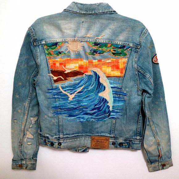 6af464f57c Polo Ralph Lauren Big Sur Embroidered Denim Jacket