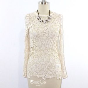 C'est Ca New York Tops - Ivory Lace Blouse