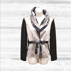 Alberto Makali Jackets & Blazers - Alberto Makali Nylon Lace Sweater Knit Jacket
