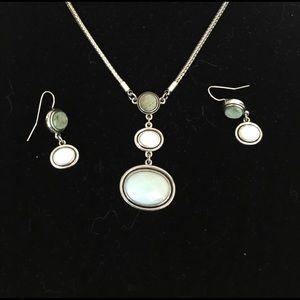 Lia Sophia Jewelry - Lia Sophia teardrop necklace and earrings