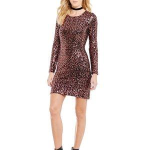Sugarlips Dresses & Skirts - Sugarlips Long-Sleeve Sequin Dress