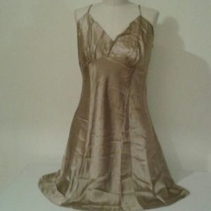 Silk Light Brown Victoria Secret Slip Size L