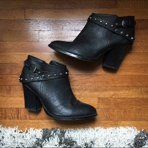 G by Guess Shoes - Studded Black Ankle Bootie