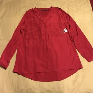 Metaphor Tops - New W/ Tags Red HiLow Blouse Size XL
