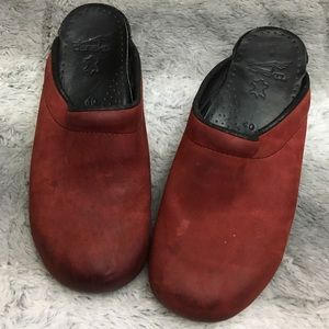 Dansko Shoes - Red Leather Dansko