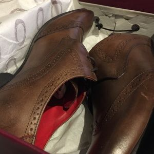 Base London Other - Base London Burnished Brown Wingtip Dress Shoe