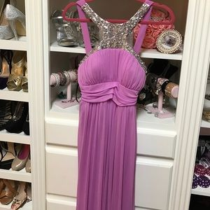 Lilac evening gown