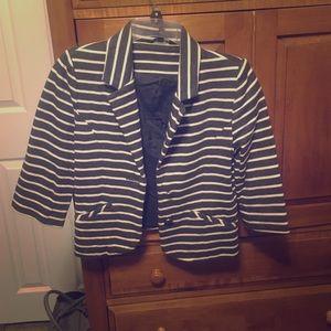 Express striped blazer
