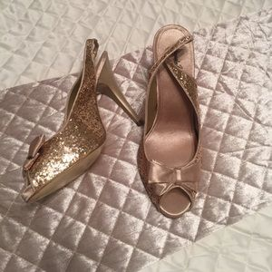 Jacqueline Ferrar Shoes - Gold Sequined Heels