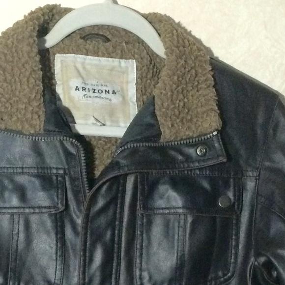 Arizona Jean Company - Boys Faux Leather Bomber Jacket from ...
