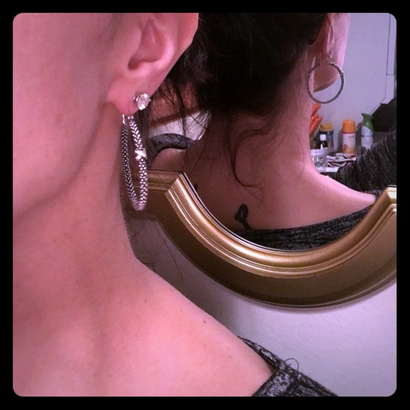 c47a56951 Lagos Jewelry | Caviar Diamond X Hoop Earrings | Poshmark