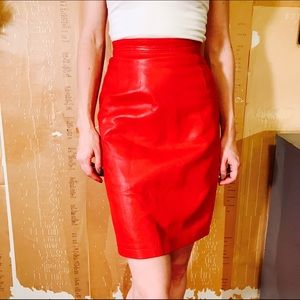 Maxima Dresses & Skirts - MAXIMA VINTAGE REAL LEATHER SKIRT #380
