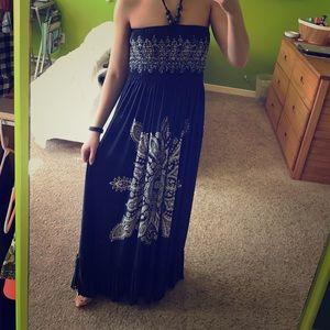 Beach Blue Dress Maxi