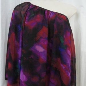 Sunny Leigh Tops - One sleeve multicolored blouse